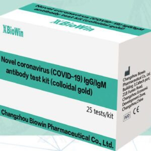 Box of Novel Coronavirus Biowin Antibody Test Kit