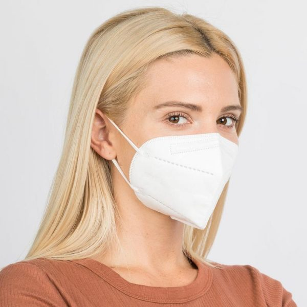 Woman with KN 95 Protective Face Mask