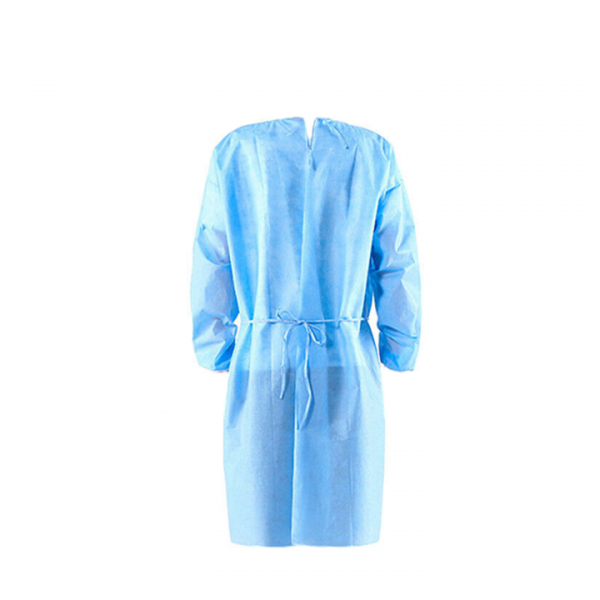 Blue surgical gown back 100% propylene
