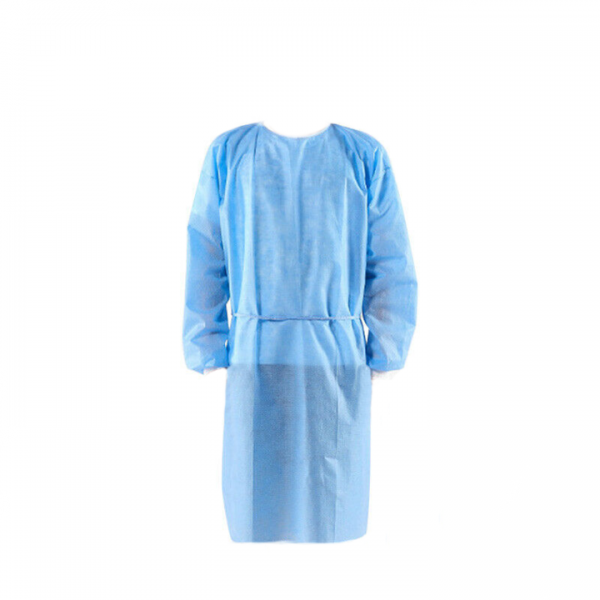 blue surgical gown front 100% propylene