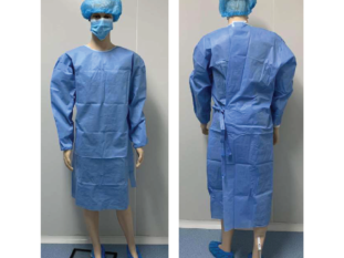 Doll wear Surgical Gown sterile blue